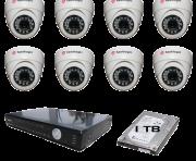 Kit Dvr HD 16 Canais 1080p com acesso pelo celular + 08 Câmeras + HD 03TB